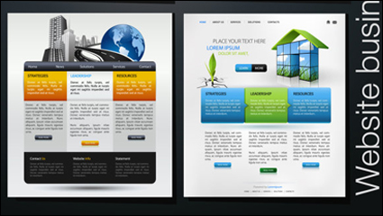 Link toForeign beautiful web design - vector material