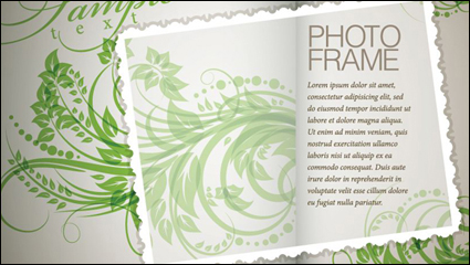 Link toPlant flowers and patterns of text in the background vector material