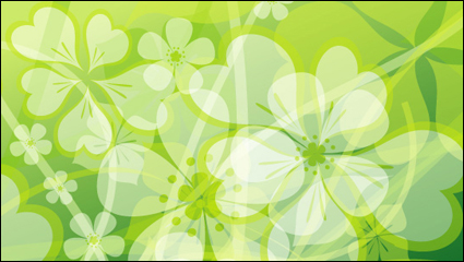 Link toFresh summer flowers vector background material -2