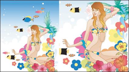 Link toExquisite cartoon fashion crush 04-- vector material