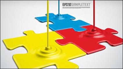 Link toPaint art design style vector material -4