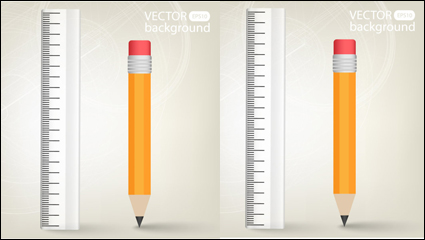 Link toRealistic learning stationery 02-- vector material