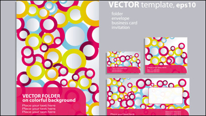 Link toRing elements of the background pattern 01 - vector