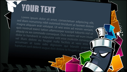 Link toCool text box black background vector material -2