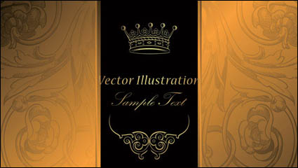 Link toEuropean gorgeous classic pattern background 03-- vector material