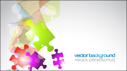 Link toColorful puzzle vector background material -3