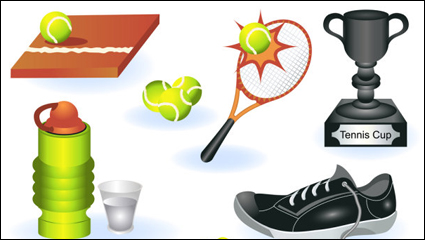 Link toMaterial fine sports equipment - vector material