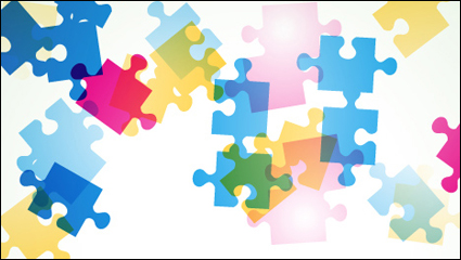 Link toColorful puzzle vector background material -4