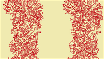 Link toIntensive hand-painted pattern vector material -1