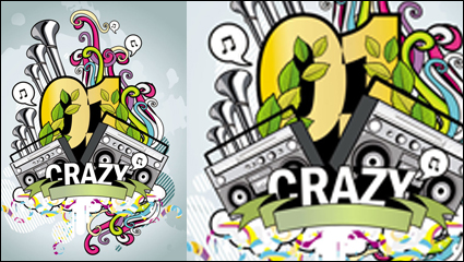 Link toThe trend of music posters 04-- vector material