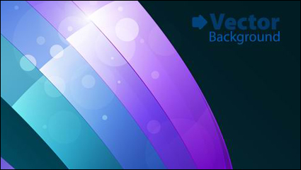 Link toColorful ribbons vector background material -3