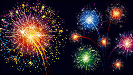 Link toColorful fireworks material 01 - vector