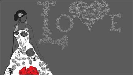 Link toBeautiful hand-drawn fashion illustration 03-- vector material