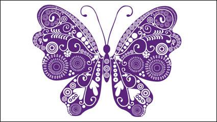 Link toBeautiful butterflies vector material