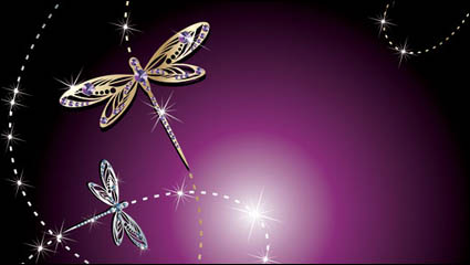 Link toFine jewelry dragonfly vector material