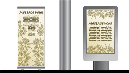 Link toLight box billboards template design vector material -3