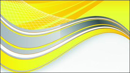 Link toBright yellow line text box vector material -2