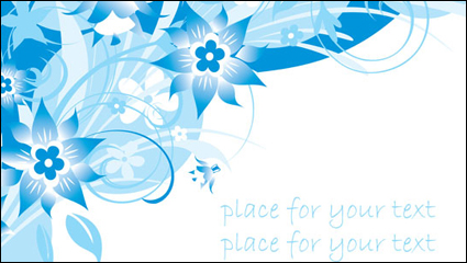 Link toSimple blue hand-painted flowers and patterns of text background vector -3