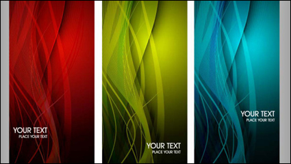Link toThe trend of colorful dynamic graphics card 03 - vector