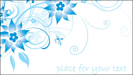 Link toSimple blue hand-painted flowers and patterns of text background vector -1