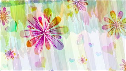 Link toRomantic floral pattern background vector -1