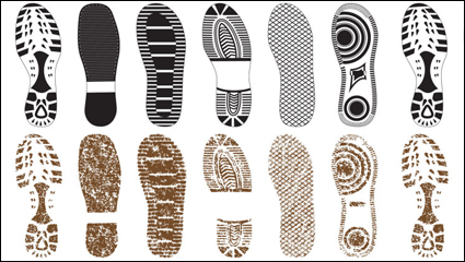 Link toVariety of fine shoe prints 02 - vector