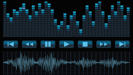 Link toAudio band material 02 - vector