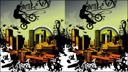 Link toTrend of the elements with urban silhouette 01 - vector