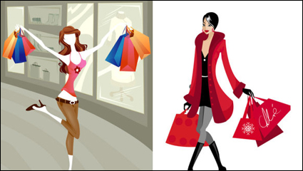 Link toShopping fashion figures vector material