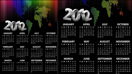 Link to2012 calendar template vector material