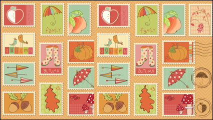 Link toCartoon illustrations of stamps 04 - vector