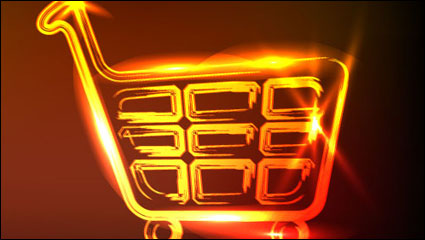 Link toThe glare shopping cart vector material