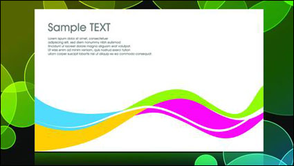 Link toThe black background of the colorful pattern vector material -3
