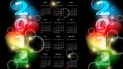 Link to2012 calendar 01 - vector