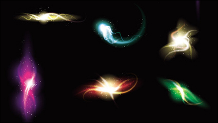 Link toGorgeous and dazzling lighting effects 03 - vector