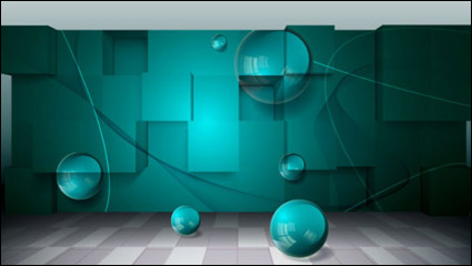 Link toThree-dimensional creative business space background vector -3