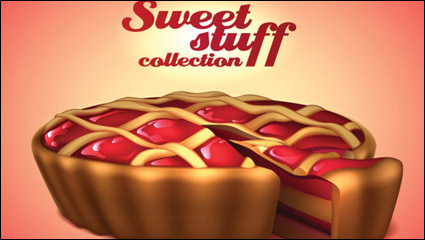 Link toThe desserts material 04 - vector