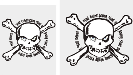 Link toSkull stamp vector material