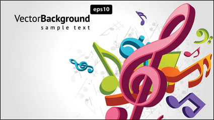 Link toNote musical theme vector material -2