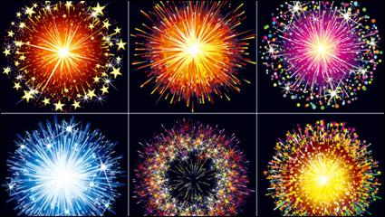 Link toBrilliant fireworks material 02 - vector