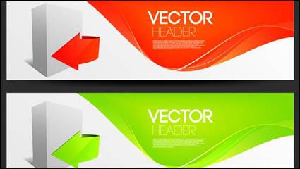 Link toFashion arrow banner design vector material -2