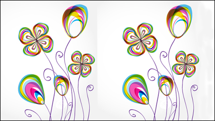 Link toColorful flower background pattern - vector