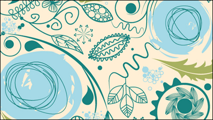 Link toEuropean retro pattern background vector material -2