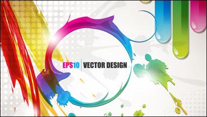 Link toColor paint splash background 03 - vector