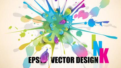 Link toColor paint splash background 04 - vector
