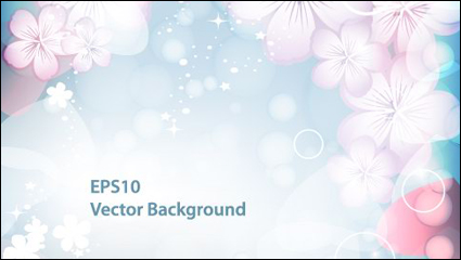Link toFantasy flashing flowers background vector -1