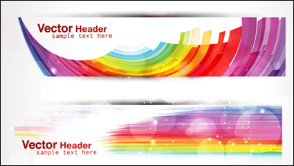 Link toColorful geometric banner vector background -1