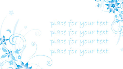 Link toSimple blue hand-painted flowers and patterns of text background vector -4