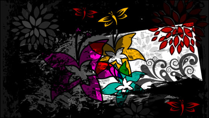 Link toColor abstract butterfly pattern 01 - vector