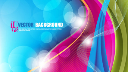 Link toBeautifully colorful background 03 - vector